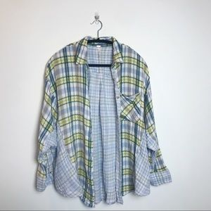 Free People | Plaid Flannel (Blue,Grn,Ylllw,White)